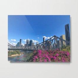 Brisbane city view Metal Print