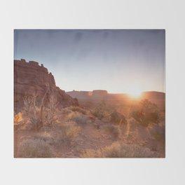 Setting Desert Sun Throw Blanket