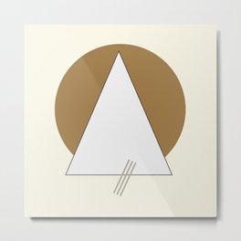 Minimal geometric art Metal Print