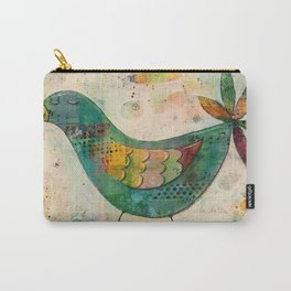 Blue(ish) Bird Carry-All Pouch