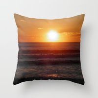 ireland Throw Pillows featuring Ireland by American Artist Bobby B