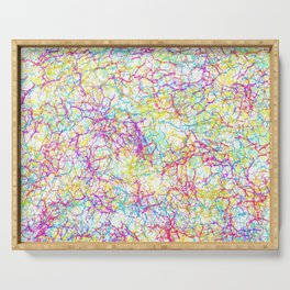 Colorful crackles Serving Tray