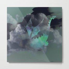 Dragon Cloud Dive Metal Print