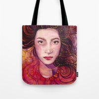 witch Tote Bags featuring WITCH by Verismaya
