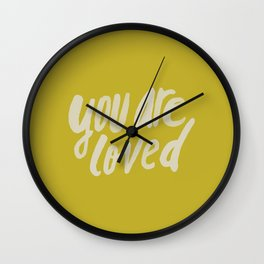 You Are Loved x Mustard Wall Clock