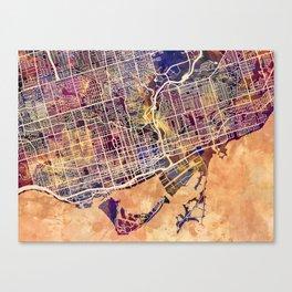 Toronto Canada Street Map Canvas Print