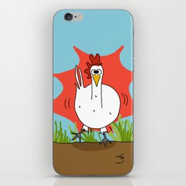 Eglantine la poule (the hen) when she has just drink coffee iPhone Skin