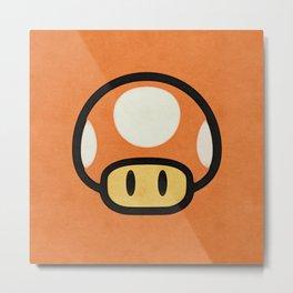 Mushroom Red/Orange Metal Print