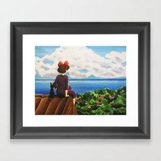 Kiki's dream Framed Art Print