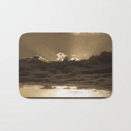 Sunset Soufriere (Sepia) Bath Mat