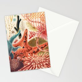 Great Barrier Reef Vintage Starfish Illustration by William Saville-Kent, 1893 Stationery Cards