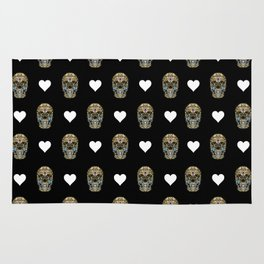 Say It with Skull and Hearts Rug