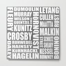 penguins 16-17 roster Metal Print