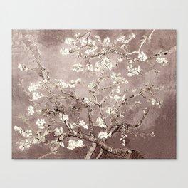 Van Gogh Almond Blossoms Beige Taupe Canvas Print