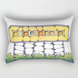 Funky yellow architectural design 51 Rectangular Pillow