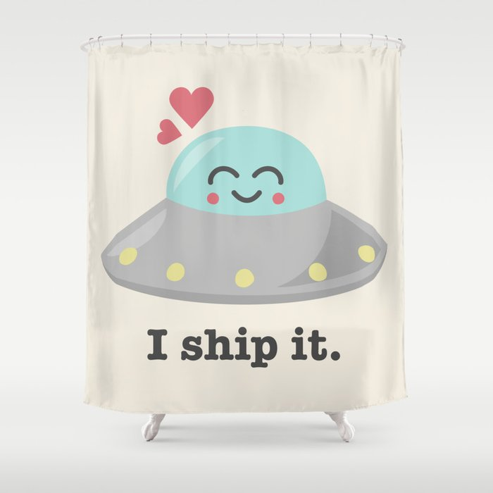 i ship it. Shower Curtain