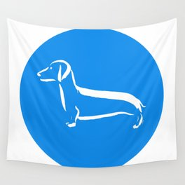 Little Turquoise Dachshund Wall Tapestry