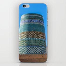 Unfinished Minaret - Khiva, Uzbekistan iPhone Skin