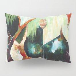 """Temple Lilies"" Original Painting by Flora Bowley Pillow Sham"