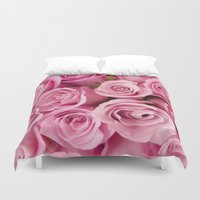 oil Duvet Covers featuring Oil Roses by Crazy Cool Animals