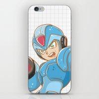 mega man iPhone & iPod Skins featuring Mega-Man by HypersVE