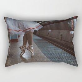 Red Ribbon Rectangular Pillow