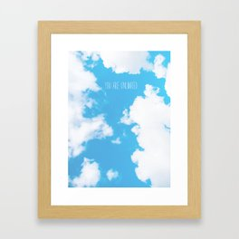 You Are Unlimited | Sky Framed Art Print