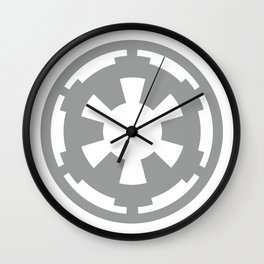 Gray Imperial Cog, Galactic Empire, Imperial Crest, Dark Side Wall Clock