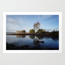 Cold Clear Morning At Chasewater Art Print
