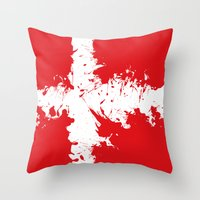 denmark Throw Pillows featuring in to the sky, Denmark  by seb mcnulty