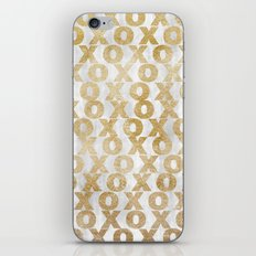 xoxo gold iPhone Skin