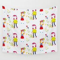 kids Wall Tapestries featuring kids by heyme