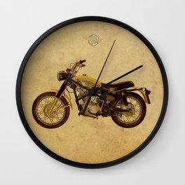 Scrambler 350 1970 vintage classic motorcycle Wall Clock