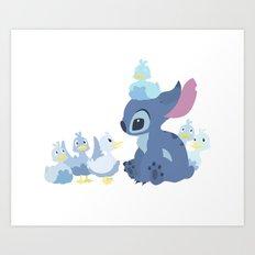 Team Stitch Art Print