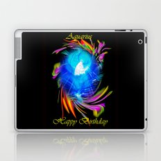 Zodiac sign Aquarius  Happy Birthday Laptop & iPad Skin