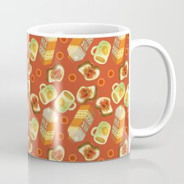 Coffee and Toast (Tomato Sauce Red) Coffee Mug