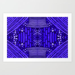 midnight blue textural Art Print