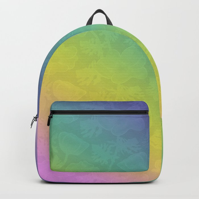 Floral rainbow color pattern . Backpack