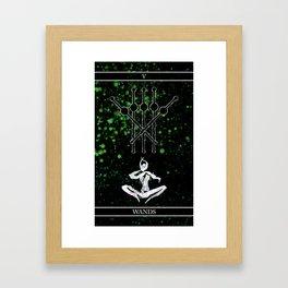A Tarot of Ink 05 of Wands Framed Art Print