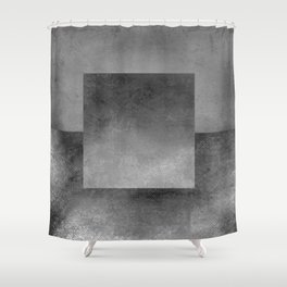 Square Composition XII Shower Curtain