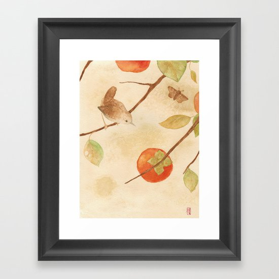 Winter Wren Framed Art Print