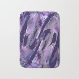Thunder Plum Abstract Bath Mat