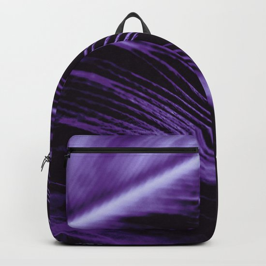 Purple Feather close up Backpack