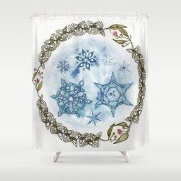 Christmas Celtic Knot Australian Gumnut Mandala Watercolor Pencil Painting Shower Curtain