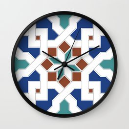 Geometric Pattern - Oriental Design Pt. 7 Wall Clock