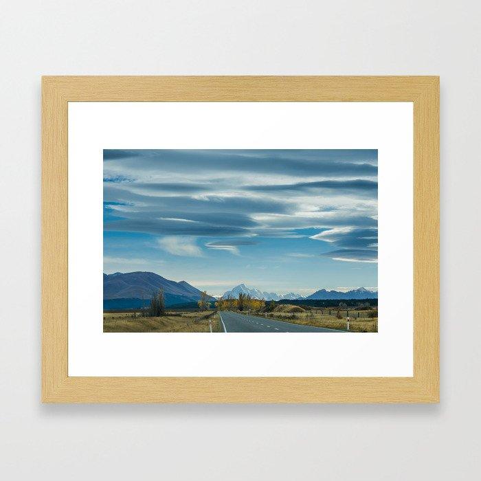 Mackenzie Skies (colour) Framed Art Print