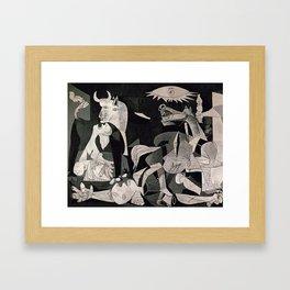 GUERNICA #1 - PABLO PICASSO Framed Art Print