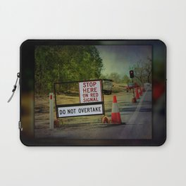 Stop Here When Light Is Red Laptop Sleeve