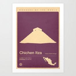 Chichen Itza, Mexico Art Print