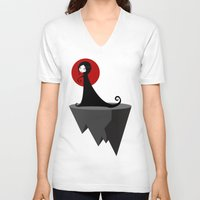 sia V-neck T-shirts featuring Sia by Volkan Dalyan